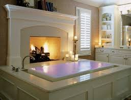 Infinity tub in the master bath with a fireplace? Would they like me to ever