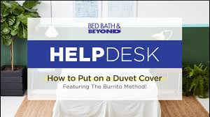 help desk how to put on a duvet cover