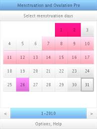 Menstruation Calendar - April.onthemarch.co