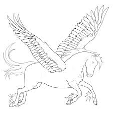 Very Attractive Pegasus Coloring Page Pages Printable Barbie For