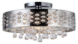edvivi chrome finish round drum shade 4 light crystal chandelier ceiling fi