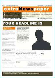 Extra Extra Newspaper Template Extra Newspaper Template Johnnybelectric Co