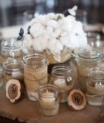 Glass Jar Table Decorations Decorations Burlap Mason Jars Jar Centerpieces Candles Tierra 12