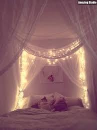 DIY Dorm Canopy Bed Lights