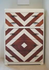 chevron painted furniture. Chevron Painted Art Deco Dresser Vintage Modern By Dwellbeing Furniture N