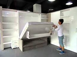multifunctional space saving wall bed
