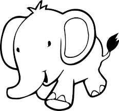 Walking Baby Elephant Coloring Page Wecoloringpagecom