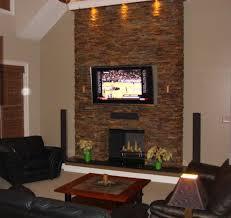 Concrete Stone Fireplace Wall ...