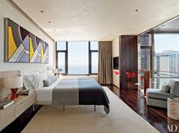modern style bedroom. Contemporary Modern Chicago Bedroom With Roy Lichtenstein Triptych Inside Modern Style Bedroom