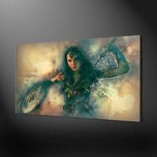 image is loading wonder woman abstract canvas print picture wall art  on wonder woman canvas wall art with wonder woman abstract canvas print picture wall art free uk delivery