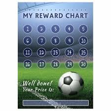 A4 Football Reward Chart And 70 Matching Stickers Reward