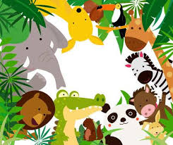 jungle animals border clipart. Perfect Animals Fun Jungle Animals Border Stock Vector  44668432 Throughout Clipart R