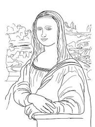 Small Picture Mona Lisa clipart coloring page Pencil and in color mona lisa