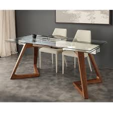 extendable design table with iside tempered glass top modern extendable dining r33