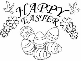 Happy Easter Coloring Page Coloring Page Book For Kids