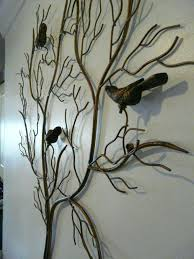 large outdoor metal tree wall art