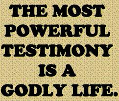 Christian Testimony Quotes Best of The Only True Testimony Biblical Wisdom And Godly Truths