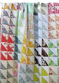 Retro Half Square Triangle HST Quilt Pattern pdf file & 🔎zoom Adamdwight.com