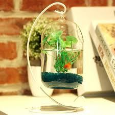 glass fish decor big size vase home aquarium suitable tank wax gourd floating decorations glass fish decor