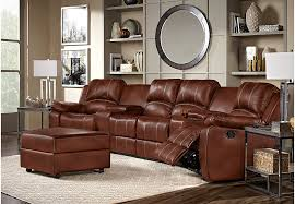 leather reclining sectional. Perfect Leather Fenway Heights Brown 5 Pc Leather Sectional  Reclining Sectionals Brown Throughout M