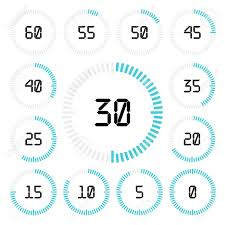 Set Timer Five Minutes Countdown Timer With Five Minutes Interval In Modern Style Set
