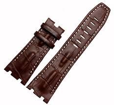 details about 28mm brown leather watch band strap fits for audemars piguet royal oak ap100