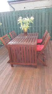 outdoor garden table with 4 folding chairs ikea applaro