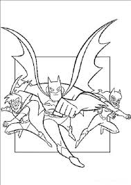Superheroes Batman Robin And Batgirl Coloring