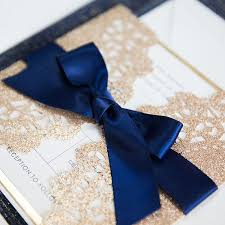 luxury wedding invitations invitations by elegant wedding invites Luxury Elegant Wedding Invitations elegant rose gold and navy blue glitter wedding invitations with gold glittery mirror paper bottom ewws192 Elegant Wedding Invitations with Crystals