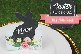 Template For Place Cards Free Free Easter Place Card Download Print