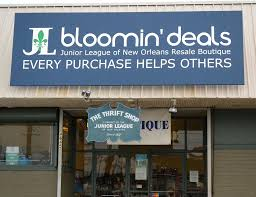 junior league of new orleans thrift bloomin deals new sign