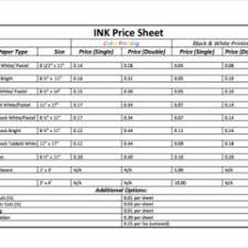 Company Product And Price List Templates Sample : Vlashed