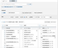 新聞雑誌記事 検索データベースサービス日経テレコン