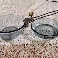 glass antique vintage pyrex set pyrex glass frying pan and sauce