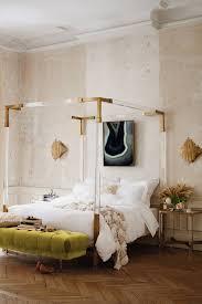 Poster Bedroom Furniture Oscarine Lucite Four Poster Bed Anthropologie