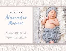 Announcement Postcards Muted Brown And Blue Baby Announcement Postcard Templates By Canva