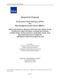Request For Proposal Gsa