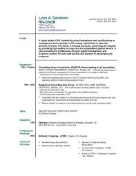 Free Nursing Resume Templates Resume And Cover Letter Resume And