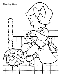 Counting Money Christmas Shopping Coloring Page Money Smart