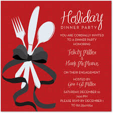 Special Holiday Dinner Invitation Christmas Party Invitations 26448
