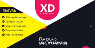 design freelancer xd freelancer personal agency portfolio one page psd template by