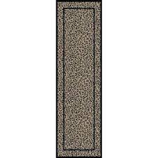 jewel leopard beige 2 ft x 8 ft runner rug