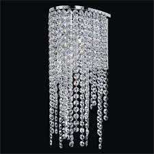 crystal sconce light ensconced 611aw1lsp 7c