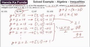 quantitative aptitude algebra