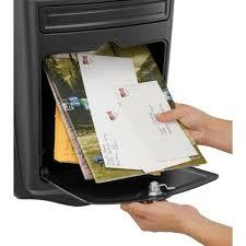 maison black wall mount locking mailbox