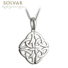 celtic pendant sterling silver 4 trinity celtic knot pendant with chain