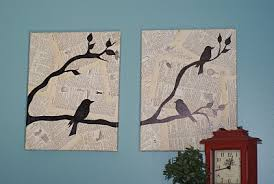 bird wall art on wall decoration art and craft with bird and text collage wall art favecrafts