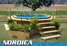 Wooden Pool Decks Pool Outstanding Picture Of Backyard Landscaping Design And
