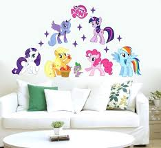 my little pony wall decals my little pony new style 7 wall sticker vinyl kids room my little pony wall decals