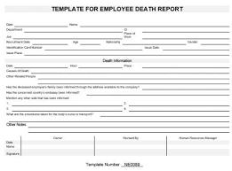 Ne0089 Employee Death Report Template English